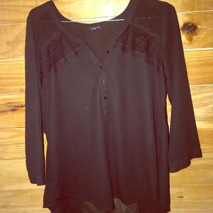 Lace and sheer Black blouse😍😍